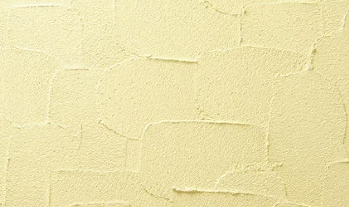 手作業ならではの深みある表情を見せる外壁仕上げ塗材