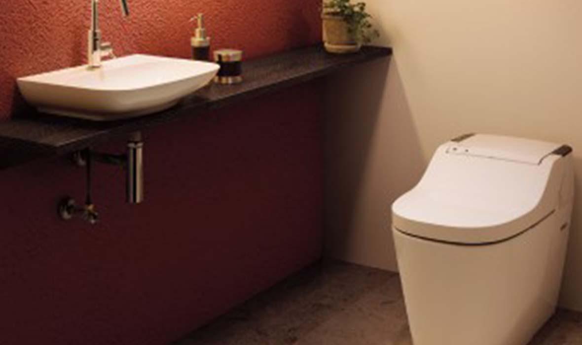 かわいいボウルを使った手洗いカウンター